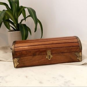 Vintage Wooden Chest / Jewelry Box